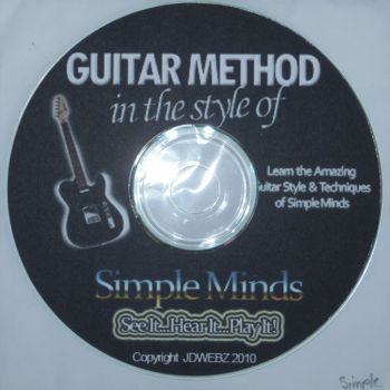 Guitar Method in the style of Simple Minds