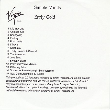 Early Gold - CD album (ref: A32051D089911)